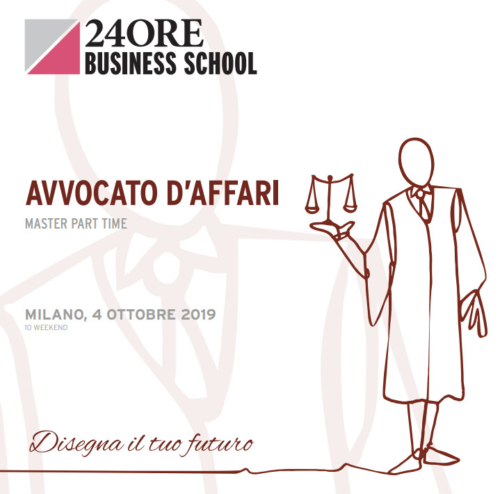 "Marzio Molinari and Alessandro Manico speakers at 24Ore Business School' Master ""Avvocato d'Affari"" on legal aspects of business finance, M&A and private equity transactions"