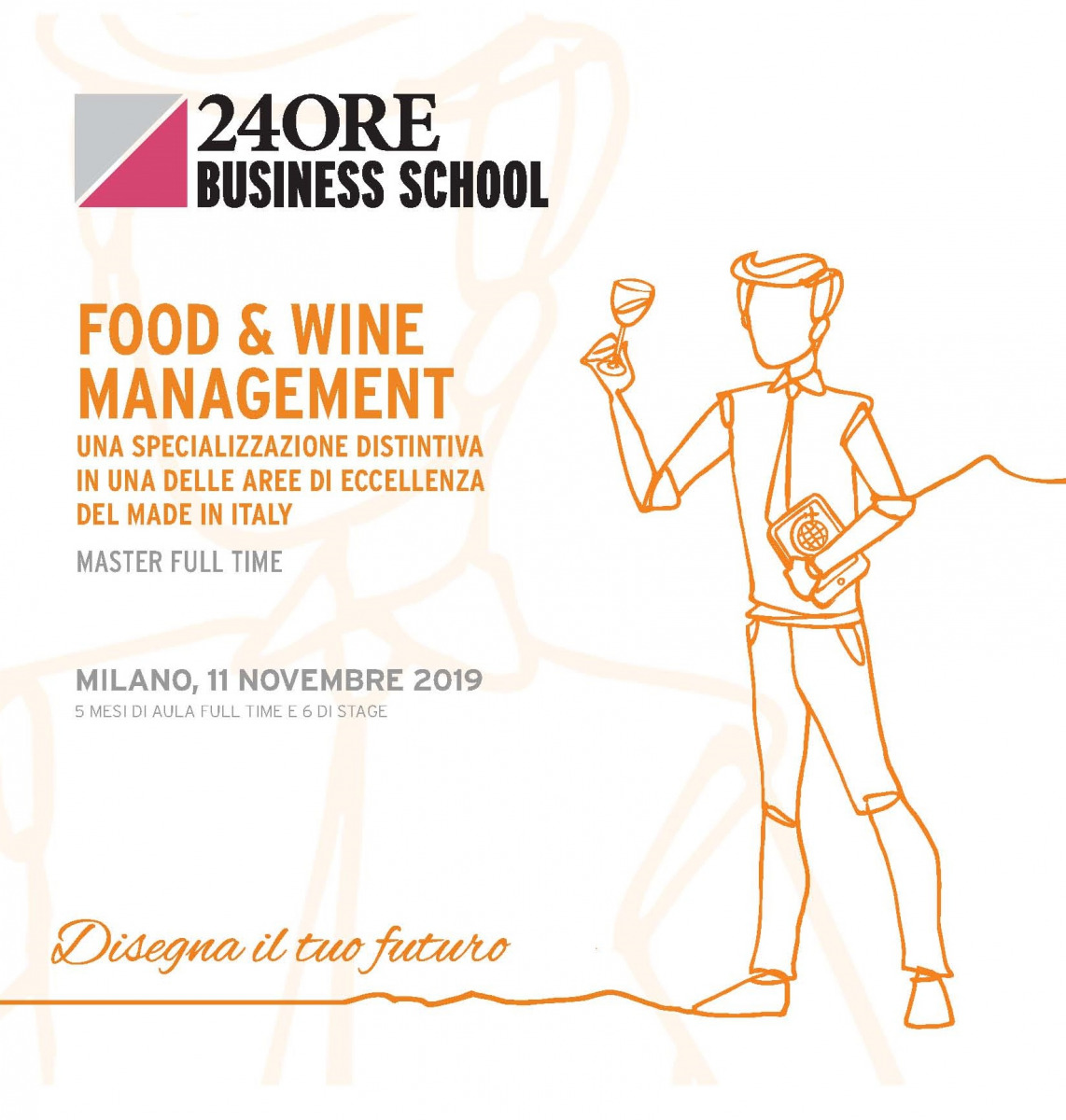 "Andrea De Panfilis, Caterina Giacalone and Alberto Passera lecturers at the ""Food & Wine Management"" Master organized by 24Ore Business School"