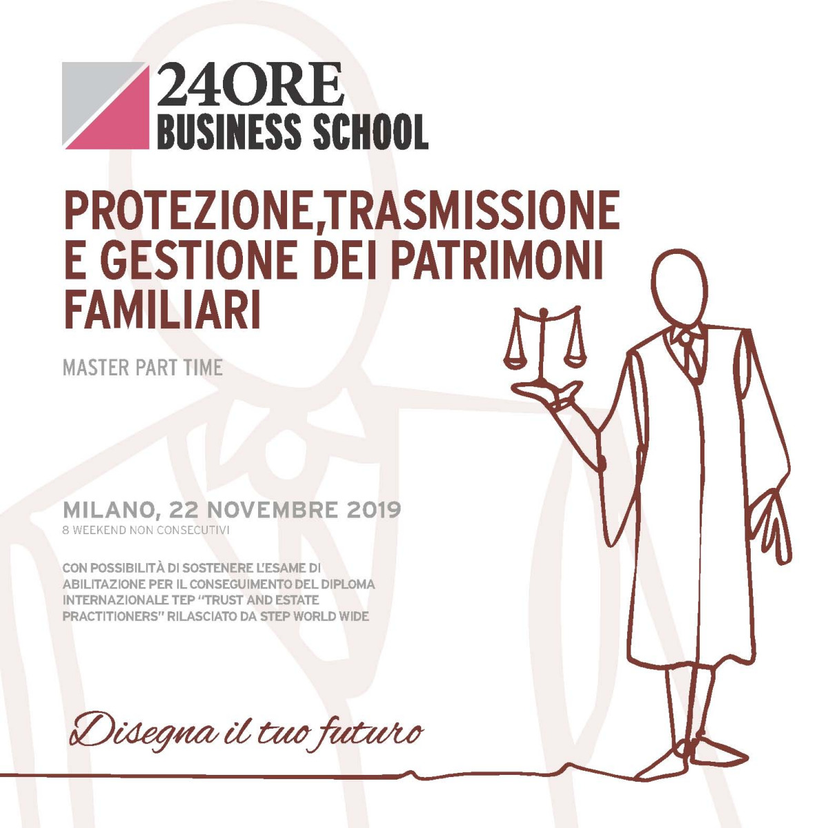 "Gianmarco Di Stasio and Annalisa Domizi speaker at ""Protezione trasmissione e gestione dei patrimoni familiari"", a master organized by 24ORE Business School"