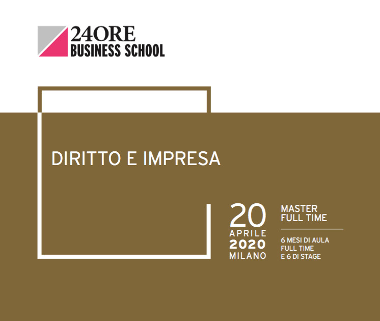 "Gianmarco Di Stasio and Alberto Greco speakers at the 24ORE Business School' ""Diritto e Impresa"" Master"