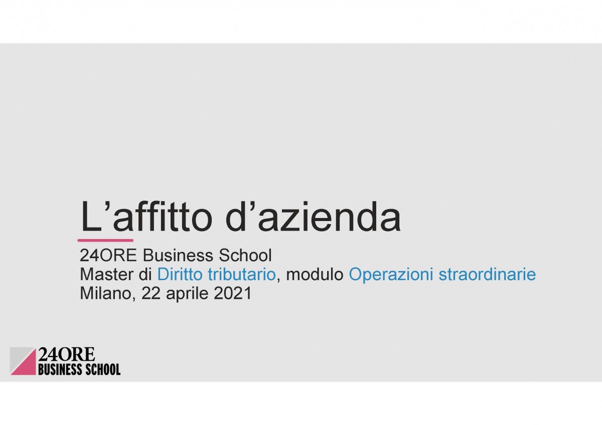 Andrea Bolletta, Libera Martini and Francesca Bassoli speaker at Tax Law Master organized by 24ORE Business School