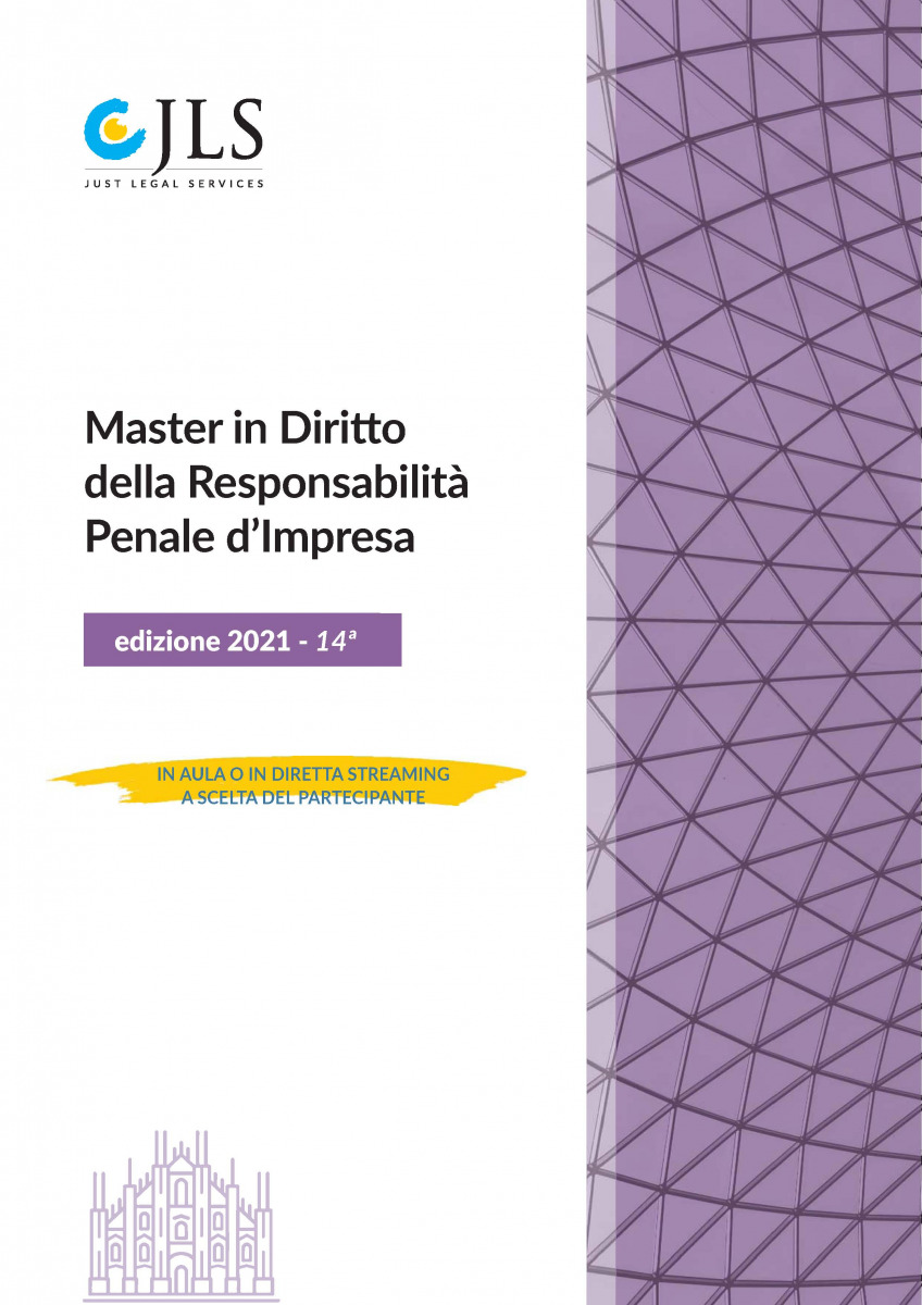 "Andrea Bolletta speaker at ""Diritto della responsabilità penale d'impresa"", a master organized by Just Legal Services"