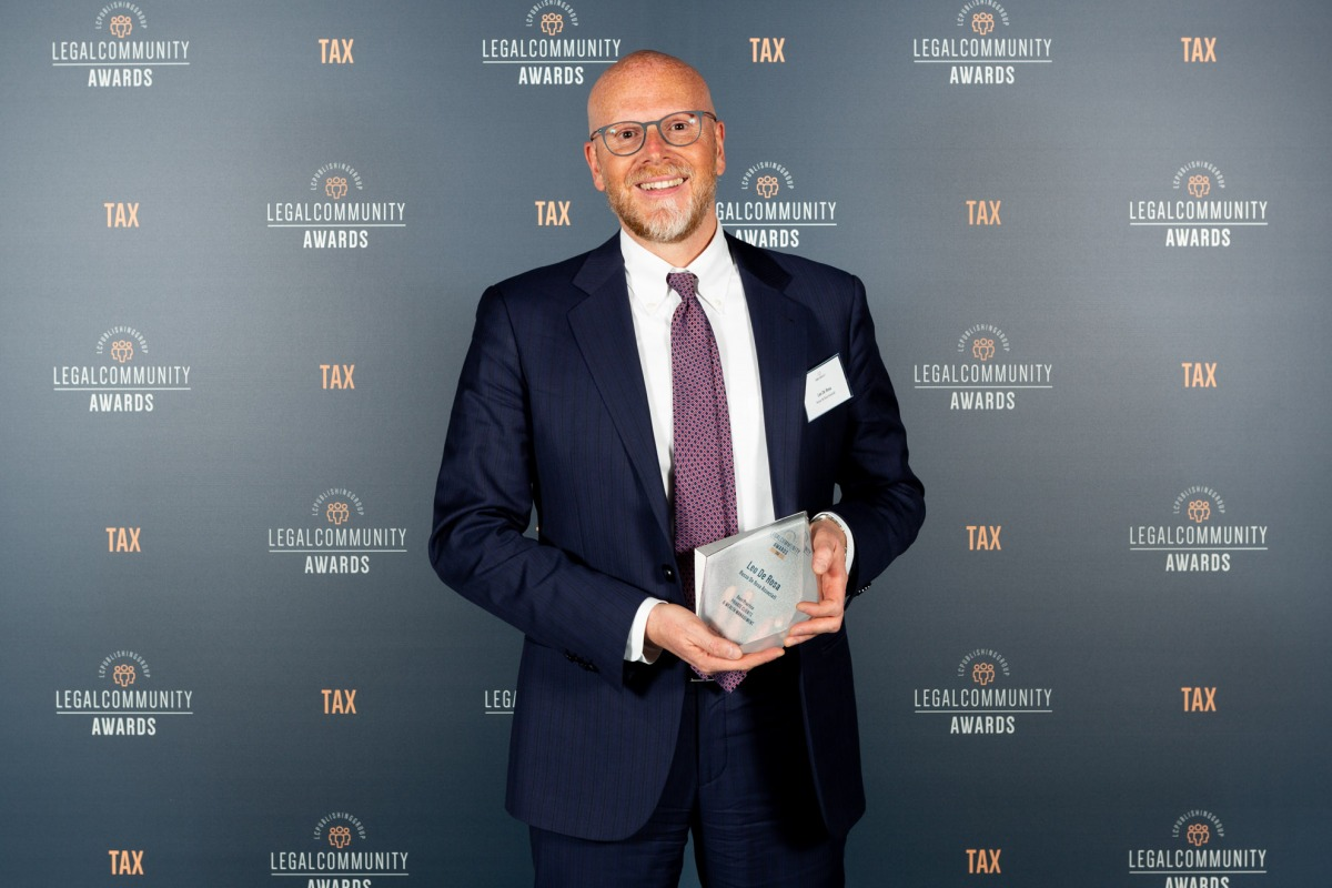 Leo De Rosa vincitore ai Legalcommunity Tax Awards 2019 nella categoria Best Practice Private Clients & Wealth Management