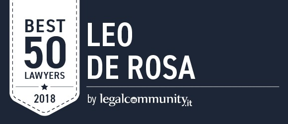 Leo De Rosa among Legalcommunity Best 50 Lawyers