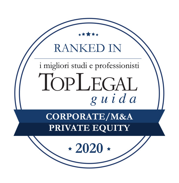 The firm is awarded among the Top Legal Ranked In 2020 in corporate M&A and private equity categories