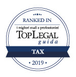 Lo Studio riconosciuto da Top Legal Ranked In 2019 nella categoria Tax